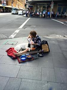 """""""Famoso"""" mendigo de Sydney"""